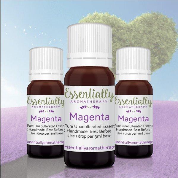 Magenta colour essential oil blend