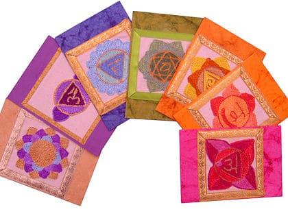 Full set of Chakra Design Greeting Cards