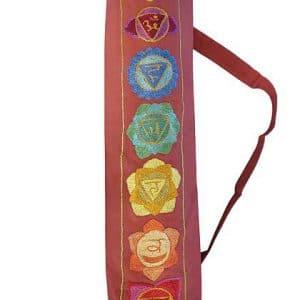 Seven chakra design yoga mat bag