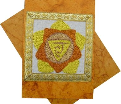 Solar Plexus Chakra Rainbow Greeting Card