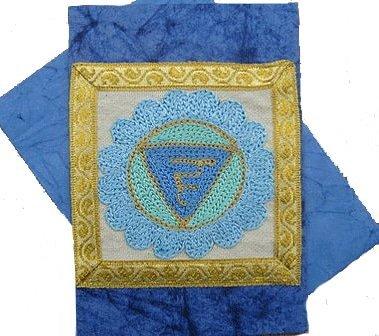 Throat Chakra Rainbow Greeting Card