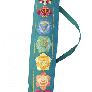Seven chakra design yoga mat bag in Green